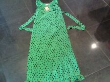 NWT Juicy Couture New Ladies Size Small Green Silk Summer Maxi Dress UK 8/10
