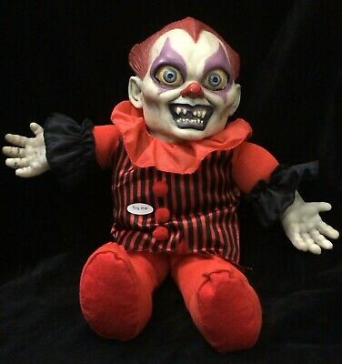 Scary head prop. Halloween prop HANGING DECAPITATED KILLER CLOWN HEAD