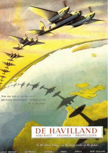 """/""""1942 de HAVILLAND MOSQUITO AIRCRAFT/"""" World War 2 Poster A1A2A3A4Sizes"""