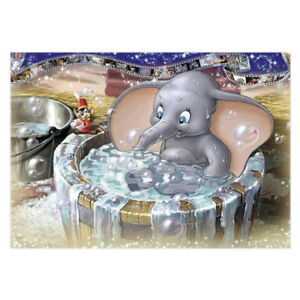 5D-DIY-diamond-painting-bath-bubble-elephant-embroidery-cross-stitch-home-dec-FP