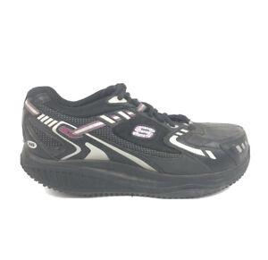 Skechers-Work-Shape-Ups-Shoes-Womens-Size-8-Steel-Alloy-Toe-Black-Sneakers