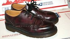 Mens Dr Doc Martens Oxblood Wingtip Shoes Size 6 US 5 UK Made In England!