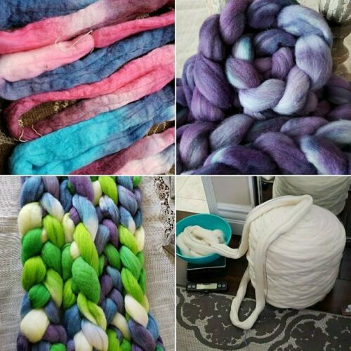 Spin Fiber Felting Wool 1lb  Spinning wool Wool Fiber Wool Wool Roving