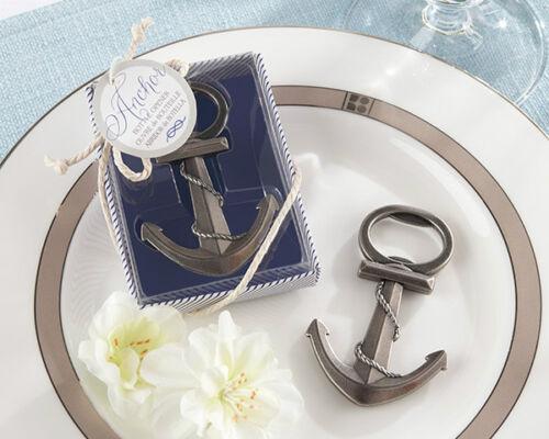 50 Anchor Nautical Themed Bottle Opener wedding favors Bridal Shower Favor Beach