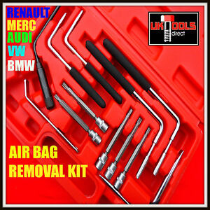 12pc AIR BAG REMOVAL TOOL SET KIT REMOVER TORX TAMPERPROOF VW AUDI BMW MERCEDES