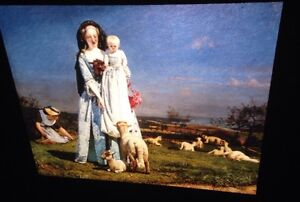 Ford Madox Brown Pretty Baa Lambs English Pre Raphaelite 35mm Slide Ebay