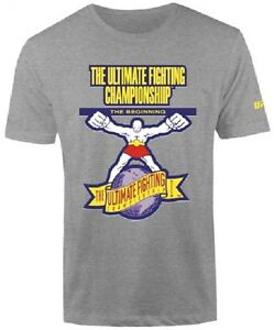 UFC-The-Beginning-Logo-T-Shirt-Gray-Mens-Size-S-NWT
