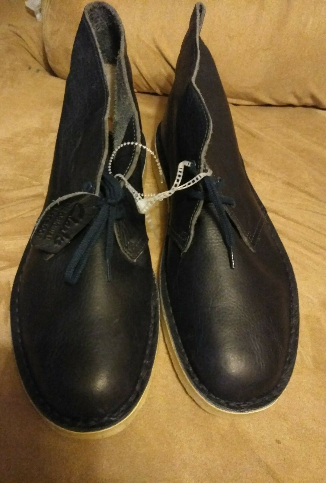 clarks leather desert chukka boots navy leather clarks mens size 12 classic 37c05c
