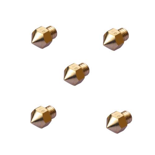 Extruder Düse 0.2//0.3//0.4//0,5mm Nozzle für 1.75mm Filament RepRap 3D Drucker