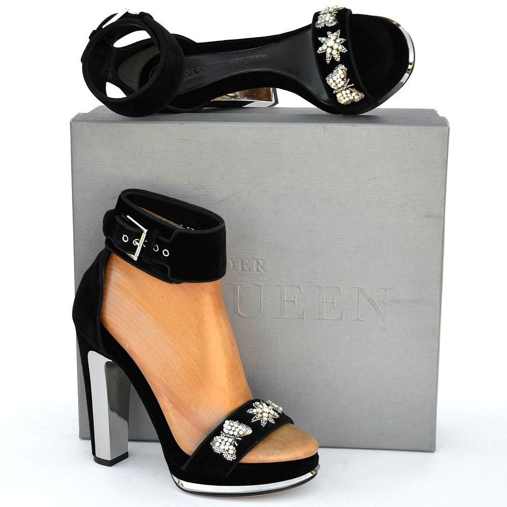 Alexander McQueen New sz 41 - 11 Auth Womens Platform Heels Sandals Shoes black