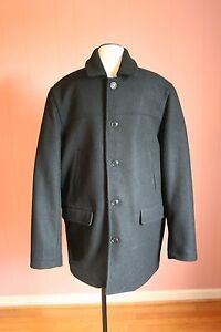 Image is loading JCrew-University-Coat-with-Thinsulate-S-Small-Black-