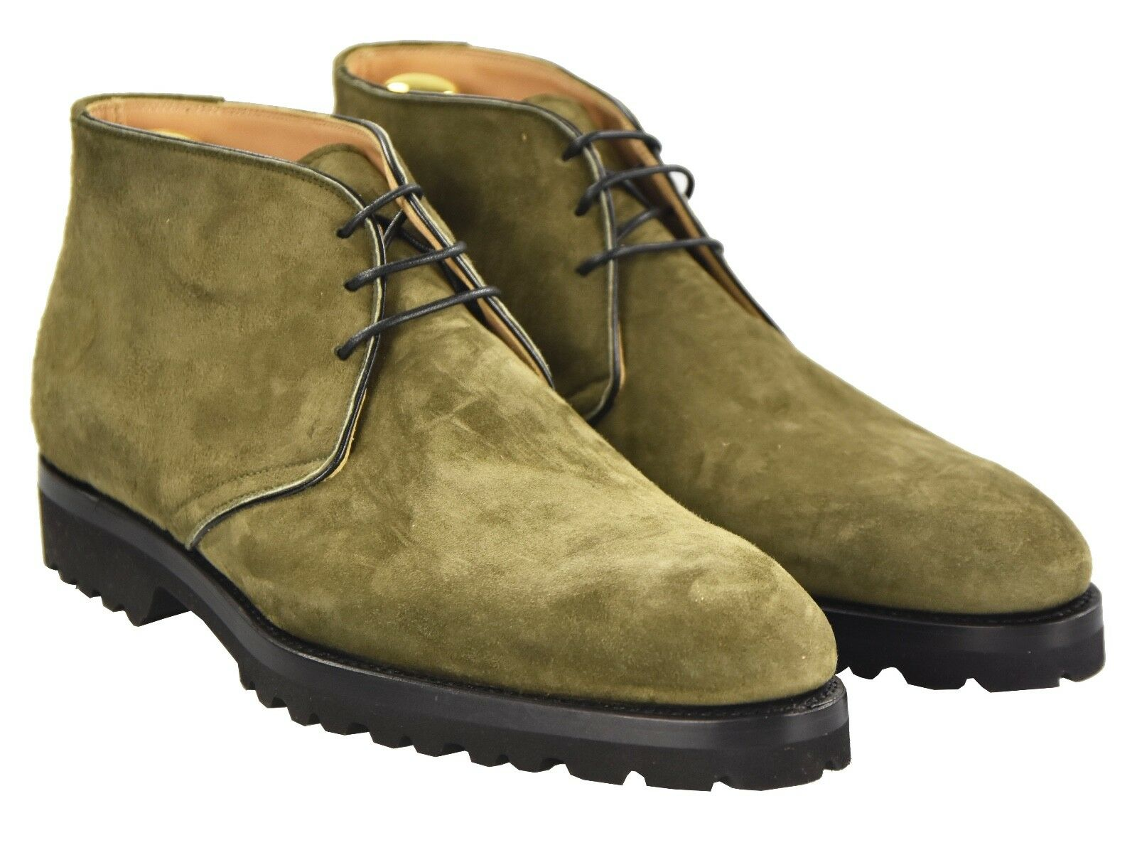 NEW KITON NAPOLI BOOTS SHOES 100% LEATHER SUEDE SIZE 7.5 US 40.5 O2