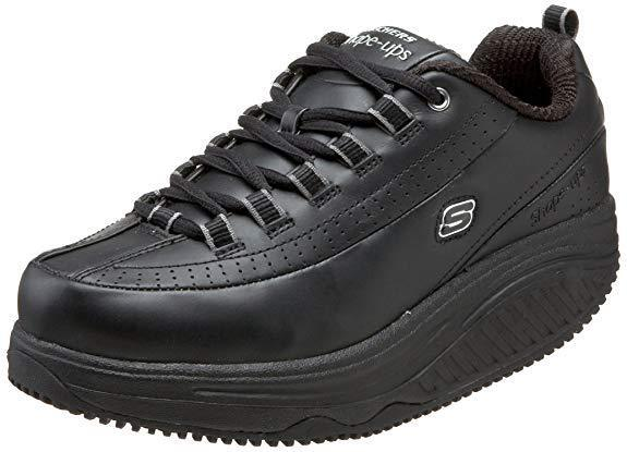 controlla il più economico Skechers 76428 BLK Donna  SHAPE UPS - SR SR SR Work Slip Resistant  per offrirti un piacevole shopping online