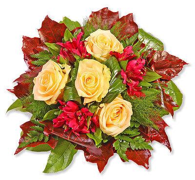 """Blumenstrauß Blumenversand """"cappuccino"""" Garten & Terrasse grußkarte+wunschtermin+frischhalter Pflanzen, Sämereien & Zwiebeln"""