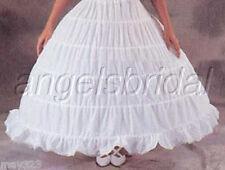 5 Hoop Bridal Wedding Gown Dress Medieval Costume Petticoat Crinoline Skirt Slip
