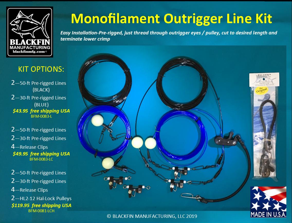 Ausleger Takelage Set - Pre-rigged Vier Mono Linien Linien Linien - Hinzufügen 1e8a4f
