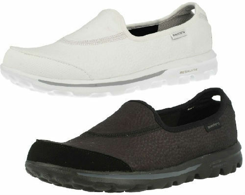 LADIES SKECHERS GO WALK ULTIMATE TRAINERS SLIP ON WALKING CASUAL TRAINERS ULTIMATE SHOES 13519 a339f1