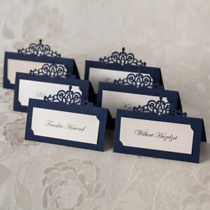 image is loading custom personalized print laser cut navy wedding party - Custom Place Cards
