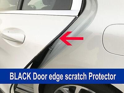 4PCS BLACK Door Edge Scratch Protector Guard Trim Molding ForTESLA 2012-2018
