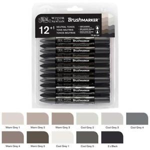 Winsor-amp-Newton-Brush-marker-Set-of-12-1-Blender-Neutral-Tones-grey-tones