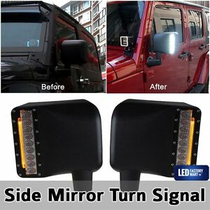 2x Off Road Side Mirror Signal Led Turn Light For 2007