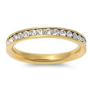 Set-of-Two-Gold-CZ-Eternity-Bands