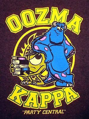 Monsters Inc Youth Lrg T Shirt Oozma Kappa Party Central Tee Disney 10 12 Sulley Ebay