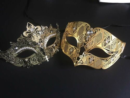 Couple Men Women Metal Filigree Masquerade Mask Venetian Costume Prom Party Ball