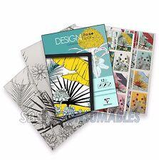 Clairefontaine LIBRO di design-qualità per adulti da Colorare Pad. 250gsm. carta dei fiori.