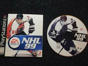 NHL-99-Ps1-Playstation-one-Tested-Disc-Manual-Booklet