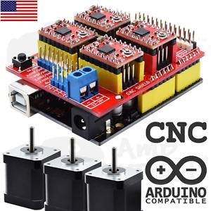 Arduino CNC kit w/ 3 x NEMA 17 Stepper Motors UNO R3 A4988 driver GRBL compatib | eBay