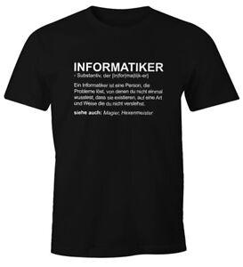 Herren-T-Shirt-Informatiker-Definition-Fun-Shirt-Moonworks
