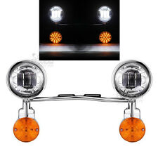 Passing Signal Fog Light Bar Fit Harley Davidson Tour Street Glide FLHX Touring