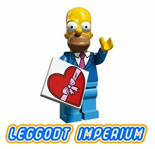 Homer Simpson tie LEGO Minifigure Simpsons S2 minifig colsim21 FREE POST