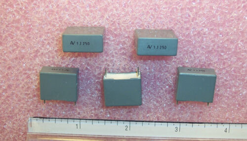 QTY 1uf 250V 5/% RADIAL METALLIZED BOX FILM CAPACITORS R60II4100J ARCO 50