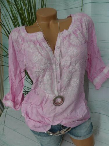 212 36 bis 38 Oil Wash mit Stickerei NEU Boysens Tunika Bluse Damen Shirt Gr