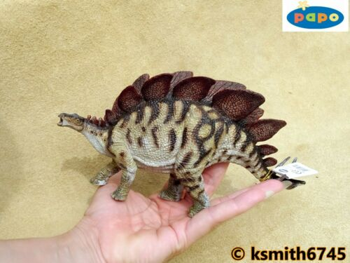 Nuovo * Papo Stegosauro NUOVO colore solido in plastica giocattolo Giurassico Dinosauri Animali