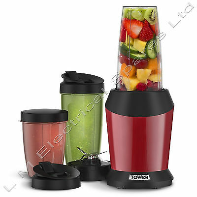 Tower Vitablend Pro Multi Blender Fruit Veg Smoothie Maker Juicer Red T12020R
