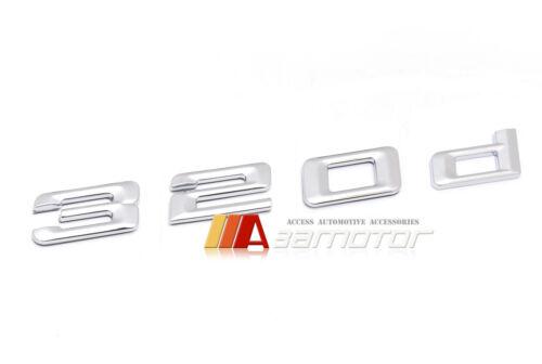 Rear Trunk Emblem Badge Chrome Letters 320d for BMW 3-Series E30 E36 E46 E90 F30