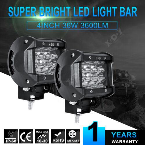 "2pcs 4/"" inch 36W LED Work Light Bar Pods Flood Spot Combo Driving Lamp SUV 12V"