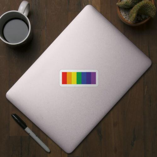 Pride Rainbow Colors Gay Pride Logo Vinyl Decal Wall Decor Bumper Laptop Sticker