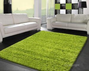 Soft shaggy hochflor teppich uni grün apfelgrün grösse