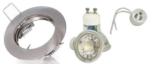 Einbaustrahler Bad Badezimmer 230V GU10 3W LED Deckenleuchte Downlight Spot