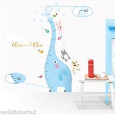 Elephant Kids Nursery 1.60 metre Height Growth Measure Chart UK Wall Sticker