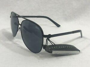 Quay-Australia-Vivienne-Womens-Aviator-Sunglasses-Black-Frames-Gray-Lenses-NWT
