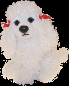 Faithful Friends White Poodle Sitting Soft Toy Dog 6 Ebay