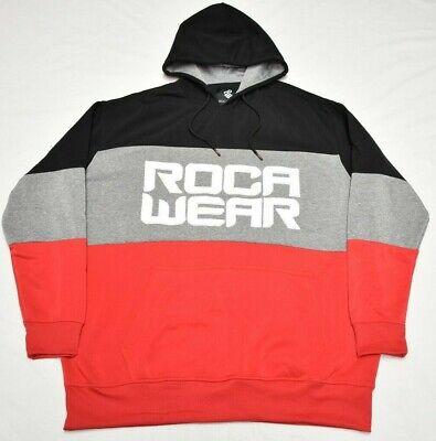 Reebok Sport Black Fleece Big Tall Logo Shirt Hoodie Sweatshirt 4X 4XL
