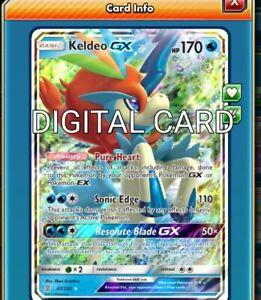 1X Keldeo GX 47//236 Unified Minds Pokemon TCG Online Digital Card