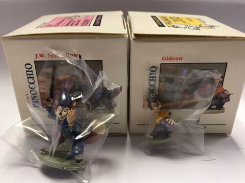 Foulfellow /& Gideon 2 Miniatures Olszewski 1990 Goebel Disney Pinocchio/'s J W