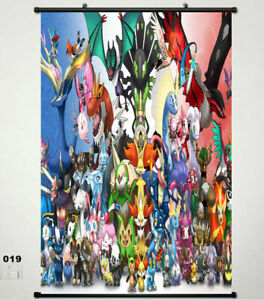 For Pokemon HD Print Uncover Canvas Home Decor Wall Art Poster 40*60cm